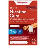Walgreens Nicotine Replacement Gum 2Mg, Cinnamon- 100 ea