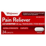 Walgreens Pain Reliever Extra Strength Caplets- 24 ea