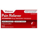 Walgreens Pain Reliever Extra Strength Easy Tablets