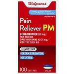 Walgreens Pain Reliever Extra Strength PM Gel Tablets