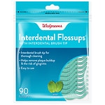 Walgreens Interdental Flossups, Mint- 90 ea