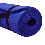 Pure Fitness Deluxe Fitness Mat, Blue Iris- 1 ea
