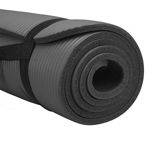 Pure Fitness Deluxe Fitness Mat, Charcoal Gray- 1 ea