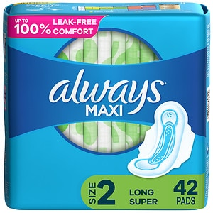 Always Maxi Pads Super with Flexi-Wings