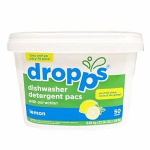 Dropps Dishwasher Detergent Pacs, 50ct, Lemon