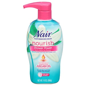 Nair Shower Power Max with Moroccan Argan Oil, Cream for Legs & Body- 13 oz
