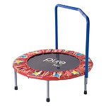 Pure Fitness 36in Kids Mini Trampoline with Handrail