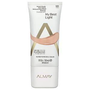 Almay Smart Shade Anti-Aging Skintone Matching Makeup, SPF 20, Light
