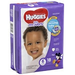 Huggies Little Movers Diapers, Jumbo Pack, Size 6- 18 ea