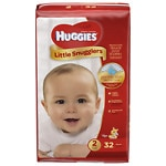 Huggies Little Snugglers Diapers, Jumbo Pack, Size 2- 32 ea
