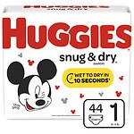 Huggies Snug & Dry Diapers, Jumbo Pack, Size 1
