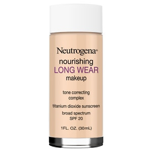 Neutrogena Nourishing Longwear Makeup, SPF 20, Natural Beige- 1 fl oz