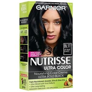 Garnier Nutrisse Permanent Haircolor, Blue Black, BL11