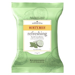 Burt's Bees Facial Cleansing Towelettes, Cucumber & Sage- 30 ea