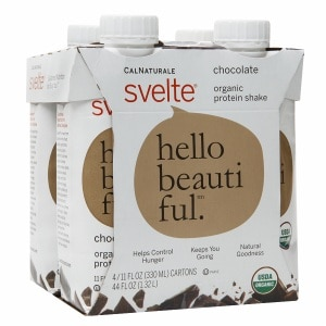 CalNaturale Svelte Organic Protein Shake, 4 pk, Chocolate- 11 oz