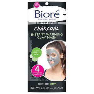 Biore Self Heating One Minute Mask- 4 ea
