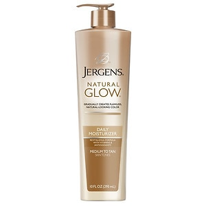 Jergens Natural Glow Daily Moisturizer (Pump), Medium to Tan Skin Tones