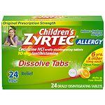 Zyrtec Children Dissolve Tabs, Citrus- 24 ea