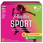 Playtex Sport Tampons Unscented, Fresh Balance Multipack, Regular & Super- 50 ea