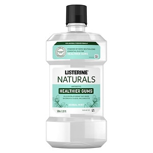 Listerine Naturals Antiseptic Mouthwash, Mint, 16.9 fl oz