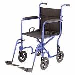 Medline Basic Transport Chair, Blue- 1 ea