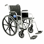 Medline Excel Basic Extra wide Wheelchair Removable Desk Length Arms, Silver, 20 x 16 Seat- 1 ea