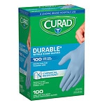 Curad Powder-Free Exam Gloves, Nitrile, Universal- 100 ea