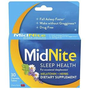 Midnite Sleep Aid, Tablets, Cherry- 30 ea