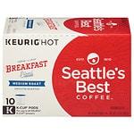 Seattle's Best Coffee K-Cups, Spirited Start Breakfast Blend, 10 pk- .35 oz