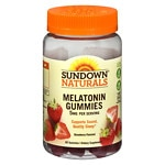 Sundown Naturals Melatonin 5mg Gummies, Strawberry- 60 ea