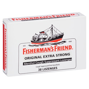 Fisherman's Friend Extra Strong Menthol Cough Suppressant Lozenges, Original- 38 ea