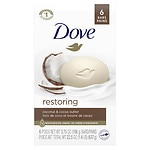 Dove Purely Pampering Beauty Bar, 4 oz, Coconut Milk- 6 ea