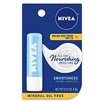 Nivea Lip Care A Kiss of Smoothness Hydrating Lip Care, SPF 15, Shea Butter & Aloe- .17 oz