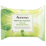 Aveeno Positively Radiant Makeup Removing Wipes- 25 ea