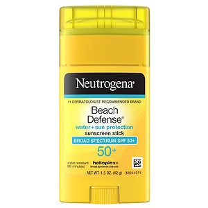 Neutrogena Beach Defense Sunscreen Stick, SPF 50+- 1.5 oz