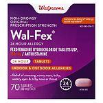 Walgreens Wal-Fex 24 Hour Allergy Medicine- 70 ea