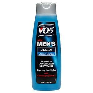 Alberto VO5 Mens 3-IN-1 Shampoo, Conditioner & Body Wash, Ocean Surge
