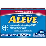 Aleve All Day Strong Pain Reliever, Fever Reducer, Caplets- 270 ea
