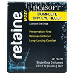 OCuSOFT Retaine MGD Complete Dry Eye Relief Lubricant Eye Drops Single-Dose Containers- 30 ea