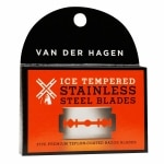 Van Der Hagen Double-Edge Razor Blades, Ice Tempered Stainless Steel Blades- 5 ea