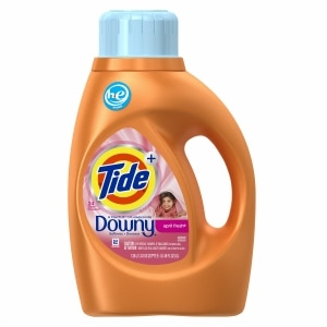 Tide Plus A Touch of Downy High Efficiency Liquid Laundry Detergent 24 Loads, April Fresh- 46 fl oz