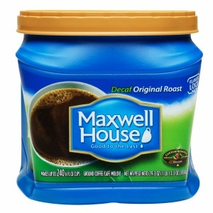 Maxwell House Ground Coffee, Original Decaf, 29.3 oz