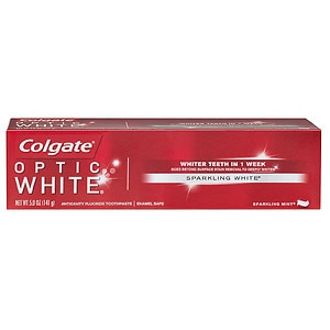 Colgate Optic White Anticavity Fluoride Toothpaste, Sparkling Mint