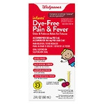Walgreens Infants' Pain & Fever Reducer, Dye Free, Cherry- 2 oz