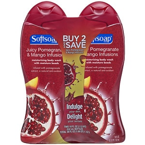 Softsoap Moisturizing Body Wash, Pomegranate & Mango