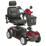 Drive Medical Ventura 4 Wheel Scooter, Captain Seat, Red & Blue, 20 inch Seat- 1 ea