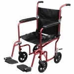 Drive Medical Flyweight Lightweight Transport Wheelchair with