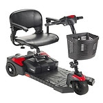 Drive Medical Spitfire Scout 3 Wheel Travel Power Scooter, Black, 16.5 Inch Seat- 1 ea