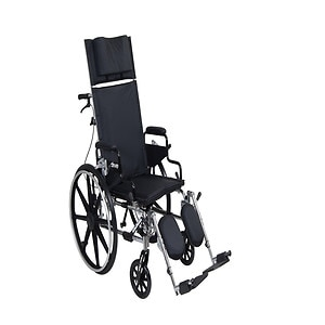 Drive Medical Viper Plus GT Reclining Wheelchair with Desk Arms, Black, 18 Inch Seat
