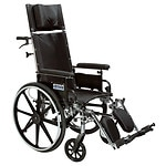 Drive Medical Viper Plus GT Reclining Wheelchair with Detachable Desk Arms, Black, 20 Inch Seat- 1 ea